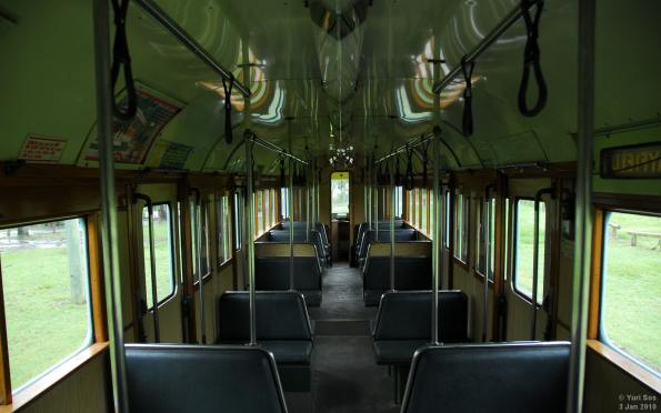 Interior of 554 at Brisbane Tram Museum
